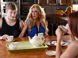 brazzers tube Farrah Dahl, Janet Mason & Brick Danger: Say Hello to Mrs. Dahl Janet Mason has no idea, but her best friend Farrah Dahl and her stepson Brick have been fucking for months. Every time Farrah comes over for tea, Brick fucks Farrah\'s face, and sometimes she even gives him a handjob underneath the table while his stepmom Janet is sitting is right there! But when she walks in on them fucking one day, Janet isn\'t mad like they feared, she\'s just mad she wasn\'t invited! The two big titted MILFs fight over Brick\'s cock, trying to prove who gives the best blowjobs, who fucks the best, and who\'s the better cum slut as they jerk a hot cumshot right out of his cock!video
