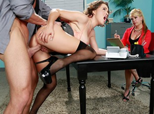 porn video Brazzers Krissy Lynn & Johnny Sins: Testing Her Concentration Imagine showing up to a job interview, and while meeting your new boss a hired hand goes down on you under the interview table? That\'s exactly what happened to Krissy Lynn when she went in to sell herself at her dream job. A random guy put his face between her legs and showed her his cunnilingus skills. For as long as she could stand it, Johnny tongued her clit and when she asked him to eat her ass, he tongued her pristine butthole. Then Johnny fucked the back of her throat and bent Krissy over the table to slam her pussy. Did Krissy enjoy the raunchy fuck of her life AND win the career of her dreams? Watch the full Brazzers scene to find out!video