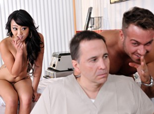 Brazzers mobile porn hub Miko Dai, Chad White: He\'s Faking! Dr. Chad White is positive that his latest patient is faking, and he\'s determined to expose him as a liar by any means necessary. When the big faker\'s daughter Miko Lee comes in for a visit, Dr. White gets a devious idea and seduces the sexy Asian slut! First he strips her down, exposing her slim all-natural body. Soon, Miko is horny as hell, giving the good doctor a blowjob, 69\'ing him, sucking on his balls, and finally taking his fat cock deep inside her tight Asian pussy!video