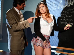 brazzer tube Karmen Karma & Tommy Gunn: A Schoolgirl\'s Fantasy Karmen Karma is a star student with a big crush on her teacher Mr. Gunn. She\'s his favorite student, but sometimes she likes to fantasize about being a dirty slut who could seduce her studly professor. Mr. Gunn would tear the clothes off of her body revealing her perky tits and tight ass, then she would drop to her knees to give him a spectacularly sloppy deepthroat blowjob. She would take her teacher\'s thick cock balls deep in her tight schoolgirl pussy, cumming hard as Mr. Gunn fucked her deep and then blew a huge cumshot all over her pretty face!video